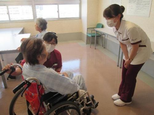 長野中央病院での実習風景